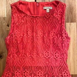 Eva Mendes New York & Company pink dress